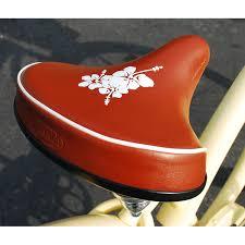 Most Comfortable Beach Cruiser Seat Cruiser X Hibiscus 10 Wide Beach Cruiser Bicycle Seat Brown