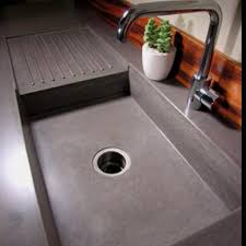 Best Concrete Images On Pinterest Concrete Sink Concrete - Kitchen sink with drying rack