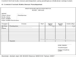 format buku jurnal penerimaan kas prosedur akuntansi pendapatan di skpd
