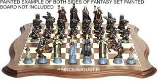 fantasy chess set pa721 fantasy 2 chess set lords of the west side 54mm scale