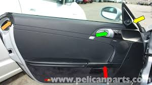 Porsche Boxster 897 - porsche boxster door panel removal mirror switch replacement