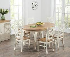 Chelsea Oak  Cream Extending Dining Table With Cavendish Chairs - Cream dining room sets