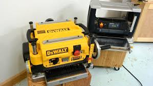 dewalt dw735 planer vs a cheap one review youtube