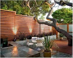 modern horizontal wood fence patio privacy wall ideas mid