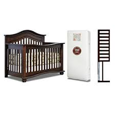 Espresso Convertible Cribs Afg Lia 4 In 1 Convertible Crib With Mattress And Guardrail