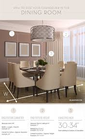 How High To Hang Chandelier What Size Dining Room Chandelier Do I Need A Sizing Guide From