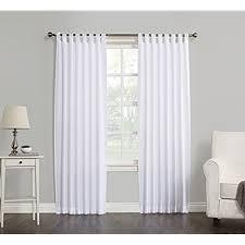 white cotton curtains amazon com