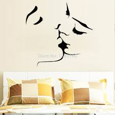 best wall stickers really creative wall stickers for your home aliexpress best ing kiss wall stickers home decor 8468 wedding decoration wall art for bedroom decals