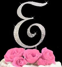 rhinestone cake toppers for weddings monogram and initial cake topper