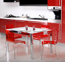 chairs inspiring red leather dining room chairs red dining room