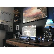 Desk For Gaming Setup by Best 25 Desk Setup Ideas On Pinterest Office Desk Accessories