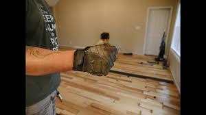 hickory hardwood floor install youtube