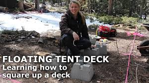 tent platform deck learning how to square up a deck floating