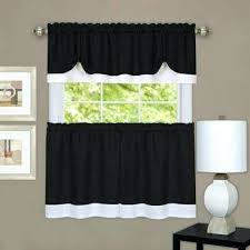 36 X 45 Curtains 36 X 45 Curtains Black White Polyester Tier And Valance Curtain
