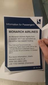 Hit The Floor Cancelled - monarch airlines goes bust cancelling 300 000 bookings with