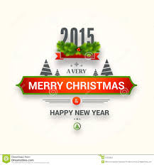 poster or greeting card design for happy new year and merry chr