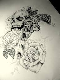 gun tattoo skull gun n roses tattoo design tattoos pinterest