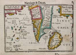 Map Of Sri Lanka Rare Old Antique Historical Maps Sri Lanka Virtual Antique Map