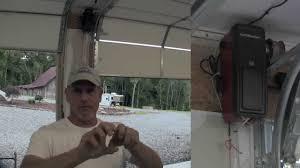 garage door opener lift master install a liftmaster garage door opener pt 2 youtube