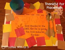 craft thanksgiving placemats for preschool class
