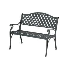 aluminum benches with 2 seats black metal folding garden chairs