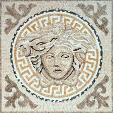 greco roman mosaic versace medusa art tile floor wall tabletop