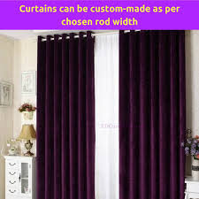 Custom Sheer Drapes Purple Fabric Bedroom Door Curtain Design Drapes Sheer Eyelets Rod