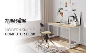 Sturdy Office Desk Tribesigns Computer Desk 47 Modern Simple Office