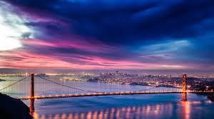 Bay Bridge Lights Architecture Bay Bridge Buildings Cities City Lights San Francisco