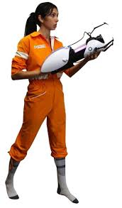 Chell Halloween Costume Portal Costume Chell U0027s Jumpsuit Forbiddenplanet Uk