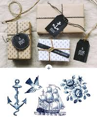 nautical wrapping paper printable anchor gift tags wrapping paper hey look via fellow