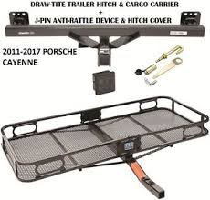 porsche cayenne trailer hitch 2011 2017 porsche cayenne trailer hitch cargo basket carrier