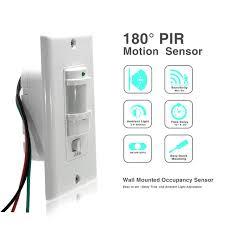 how to adjust motion sensor light switch 110v 220v ac on off auto wall mount motion sensor switch automatic