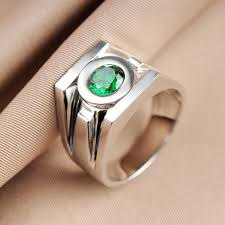 movie jewelry rings images Top quality green lantern rings men superhero real 925 sterling jpg
