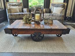 Industrial Cart Coffee Table Reclaimed Factory Carts U2014 Hóm By Benchmark
