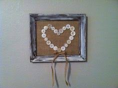 shabby chic framed letter cheap frame from salvation army