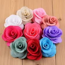 flowers for headbands aliexpress buy 20pcs pack 6cm solid colors diy fabric