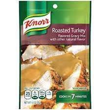 turkey gravy mix knorr roasted turkey gravy mix 1 2 ounce pack of 12