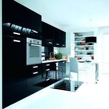 meuble de cuisine noir laqué meuble cuisine noir laquac cuisine noir brillant ordinaire deco