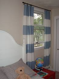 Blue And Striped Curtains Blind Curtain Lavish Vertical Striped Curtains For Beautiful
