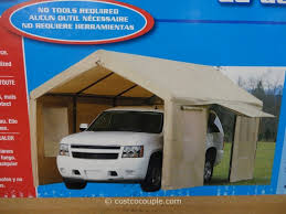 Costco Awning Steel Frame Canopy With Side Walls