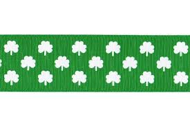 shamrock ribbon 5 yards 1 5 shamrock print grosgrain ribbon