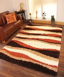 Fuzzy Area Rugs Shag Area Rugs Rugs Carpets Orange Area Rug Living Room Burnt
