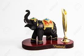 thailand elephant color black resin no pen home decor thai