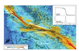 San Andreas Fault Line Map Integrating Gps U0026 Insar To Resolve Stressing Rates Along The San