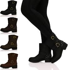 buckle biker boots 26 model ankle biker boots for women sobatapk com