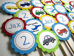 personalized cupcake toppers transportation vehicles on the go cupcake toppers adorebynat