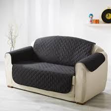 protege canape douceur d interieur protège canapé matelassé 279x179 cm noir