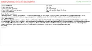 control room operator cover letters
