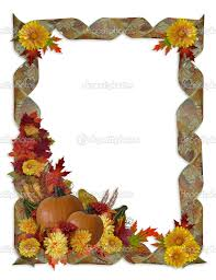 free thanksgiving borders and frames thanksgiving autumn fall